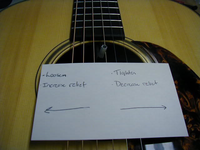 How to Adjust the Truss Rod